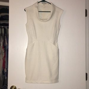 Cowl neck body con dress